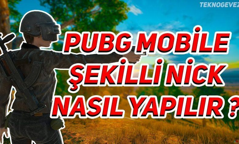 PUBG Mobile Havalı İsimler, Şekilli Nickler